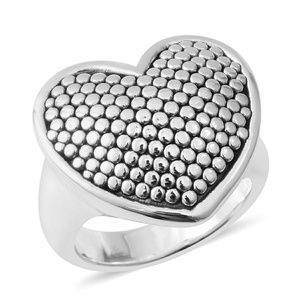 Jewelry - STERLING SILVER HEART COCKTAIL RING